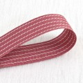Cotton Ribbon Zig Zag - Color: Plum Red. 28mm x 25 yds
