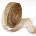 Jute Ribbon - Color:- Natural.  Size:  50mm x 15m Roll