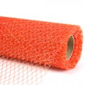 Decor Net - I.T. Mesh - Color #04 - Orange.  Specification:  68cm x 10 yds roll.
