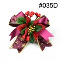 Christmas Ribbon Header - Set of 2 pcs. Design #035D.  Size:  20cm x 20cm