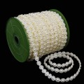 Flat Pearl Beads.  Color: #02 - Cream.  Specification:  10mm Ø x 25m Spool