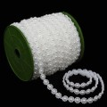 Flat Pearl Beads.  Color: #01 - White.  Specification:  10mm Ø x 25m Spool