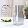 Long Neck Bouquet Vase - Grey Color.  Size:  8cmØ x Height 17cm