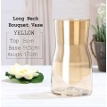 Long Neck Bouquet Vase - Yellow Color.  Size:  8cmØ x Height 17cm