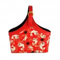 CNY Hamper Carrier Bag in Chinese Carp Design.  Size:  38x20x40cm