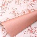 Eco-Trend - Bi-Color Floral Print.  Color # 8240 - Peach-Peach.  Available in 7 Colors.  Size:  60cm x 78cm.