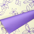 Eco-Trend - Bi-Color Floral Print.  Color # 8280 - Purple.  Available in 7 Colors.  Size:  60cm x 78cm.