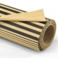 Printed Kraft Paper - Color#05 Black Stripe Design.  Size:  53cm x 78cm (Water Resistance) 80gm. 10's Roll