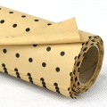 Printed Kraft Paper - Color#14 Black Pokka Dot Design.  Size:  53cm x 78cm (Water Resistance) 80gm. 10's Roll
