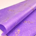 Trendy Wrap - Flowery Design.  Color: #03 - Purple.  Size:  80cm x 60cm.  Pack in 20's per polybag.  Available in 9 Colors