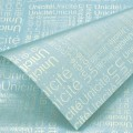 Trendy Wrap - Newsprint.  Color  #10 - Blue.  Available in 8 Colors.  Size:  60cm x 80cm. Pack in 20's per Polybag