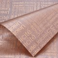Trendy Wrap - Newsprint.  Color  #11 - Chocolate.  Available in 8 Colors.  Size:  60cm x 80cm. Pack in 20's per Polybag