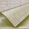 Trendy Wrap - Newsprint.  Color  #13 - Green.  Available in 8 Colors.  Size:  60cm x 80cm. Pack in 20's per Polybag