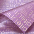 Trendy Wrap - Newsprint.  Color  #16 - Purple.  Available in 8 Colors.  Size:  60cm x 80cm. Pack in 20's per Polybag