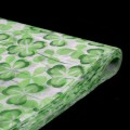 Non Woven - Printed Wrapper - Color #870 - Moss Green Clover Leaf