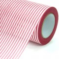 Non Woven Roll - Stripe Wrapper.  Color #141 - Red