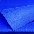 Non-Woven Vel-Tex (Cracked Ice) Flower Wrap.  Color: #10 - Blue.  Size:  80cm x 60cm.  Pack in 20's per polybag.  Available in 11 Colors