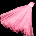 Wave Organza Roll - Color #06 - Dk. Pink.  Size:  47cm x 2m