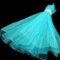 Wave Organza Roll - Color #34 - Turquoise.  Size:  47cm x 2m