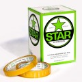 Star® Cellulose Tape.  Size:  12mm x 33m Roll.  Pack in 12 Rolls per box.