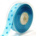 Grosgain Printed Ribbon - 22mm.  Color #305/311 - Lt. Blue-Blue Mist.  Length:  20 Yards Spool