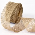 Jute Ribbon - Color:- Natural.  Size:  80mm x 15m Roll