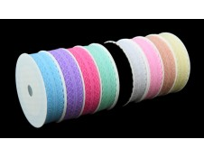 Lace Ribbon - 25mm.  Color:- #31 Lt. Blue.  Specification: 25mm x 20 yds spool