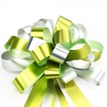 Pull Bow Ribbon - Color #01 Lime Green / Silver.  30mm x 1100mm.  Available in 8 Colors.