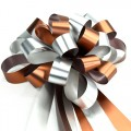 Pull Bow Ribbon - Color #02 Bronze / Silver.  30mm x 1100mm.  Available in 8 Colors.
