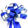Pull Bow Ribbon - Color #03 Blue / Silver.  30mm x 1100mm.  Available in 8 Colors.
