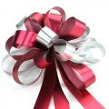 Pull Bow Ribbon - Color #05 Maroon / Silver .  30mm x 1100mm.  Available in 8 Colors.