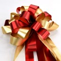 Pull Bow Ribbon - Color #07 Red / Gold.  30mm x 1100mm.  Available in 8 Colors.