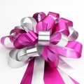 Pull Bow Ribbon - Color #08 Shocking Pink / Silver.  30mm x 1100mm.  Available in 8 Colors.