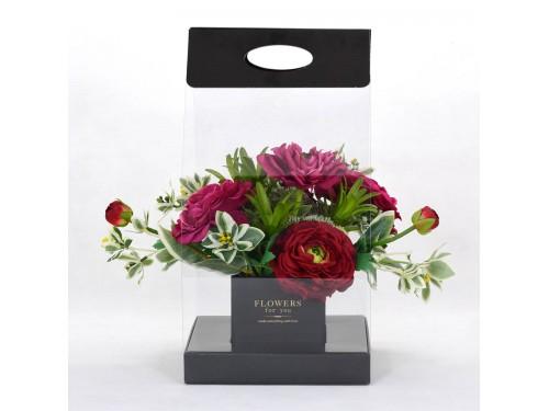 Pvc Folding Bouquet Box 0 40mm Size 20x20x40cm Height Color Black