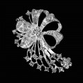 Diamond Brooches - Flower Corsages Design.  Size: 45mm x 70cm.  5 Pcs Pack