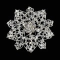Diamond Brooches - Round Flower Design.  Size: 65mm Ø.  5 Pcs Pack
