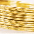 Aluminium Wire - Color:  Lt. Gold (2mm x 5m Length).