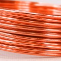 Aluminium Wire - Color:  Saffron Orange (2mm x 5m Length).