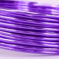 Aluminium Wire - Color:  Purple (2mm x 5m Length).