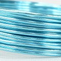 Aluminium Wire - Color:  Ice Blue (2mm x 5m Length).