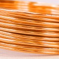 Aluminium Wire - Color:  Sunset Gold (2mm x 5m Length).